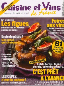 cuisine et vins de france septembre 2011 philippe cambie. Black Bedroom Furniture Sets. Home Design Ideas