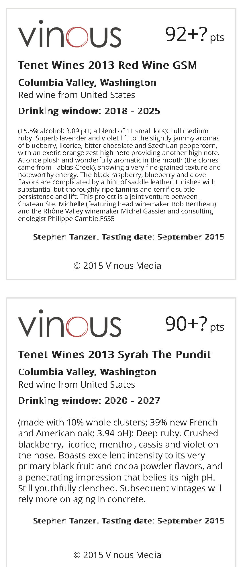 Wine List | Vinous - Explore All Things Wine
